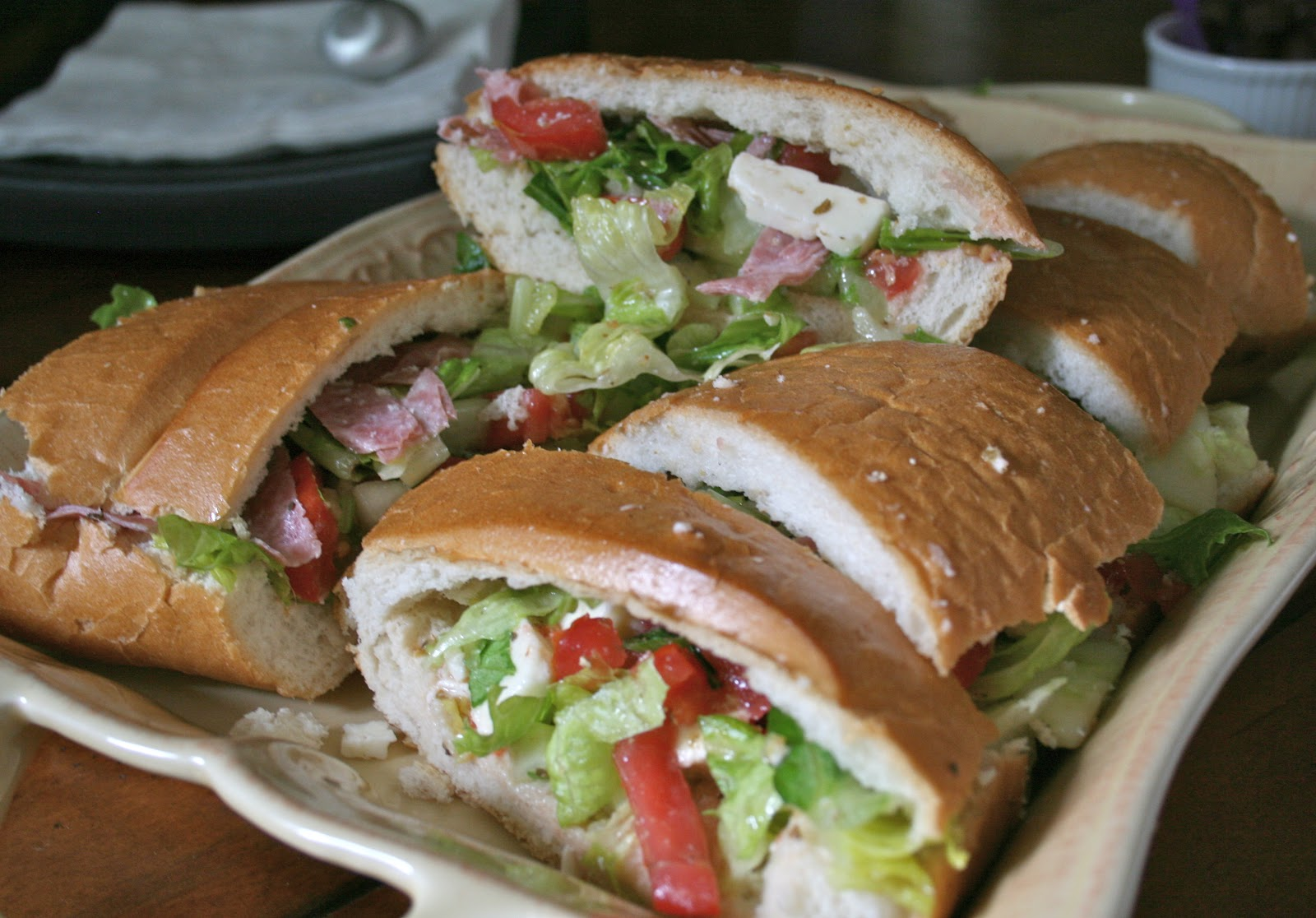 Bake - a - holic: Greek Salad Sandwiches