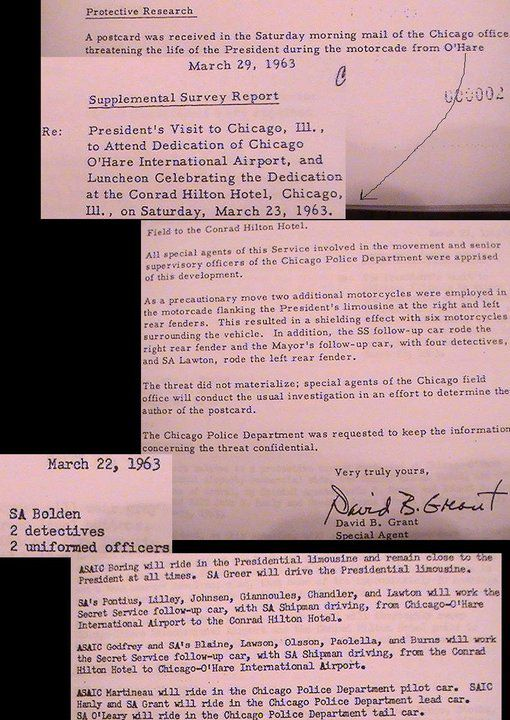 JFK'S 3/23/63 CHICAGO TRIP: SA Abe Bolden is part of the security team