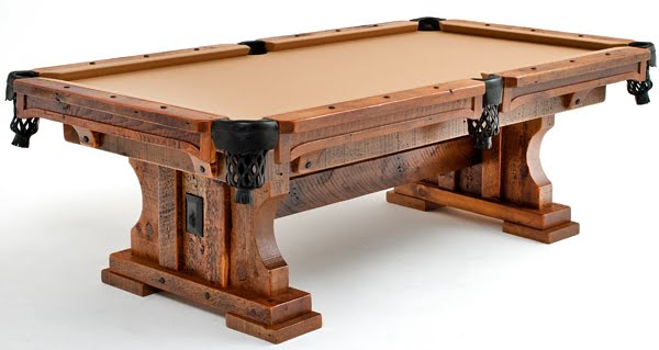 Rustic Wood Pool Table