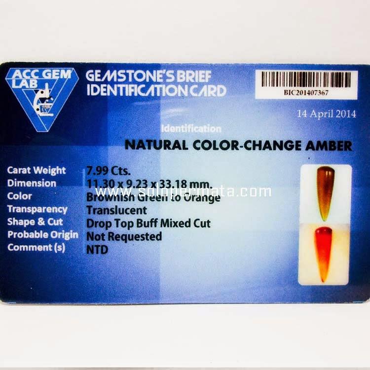 Batu Permata Color Change Amber
