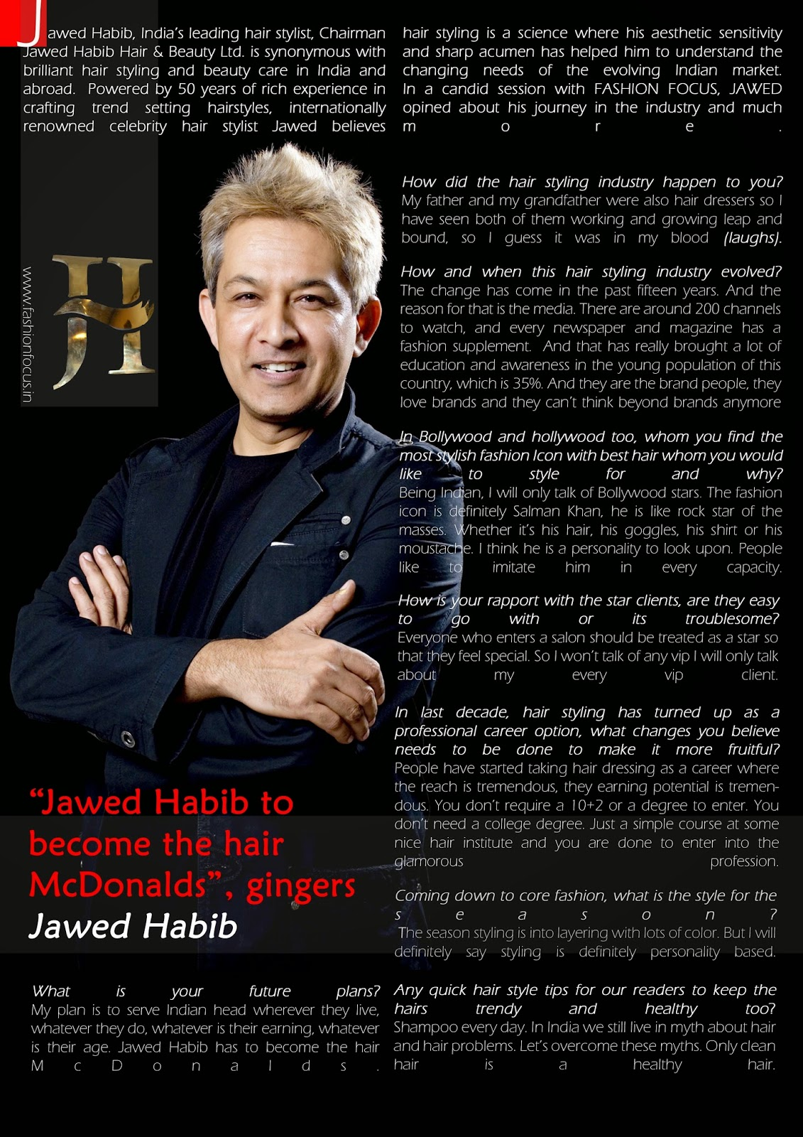 Excl Jawed Habib To Become The Hair Mcdonalds Gingers Jawed
