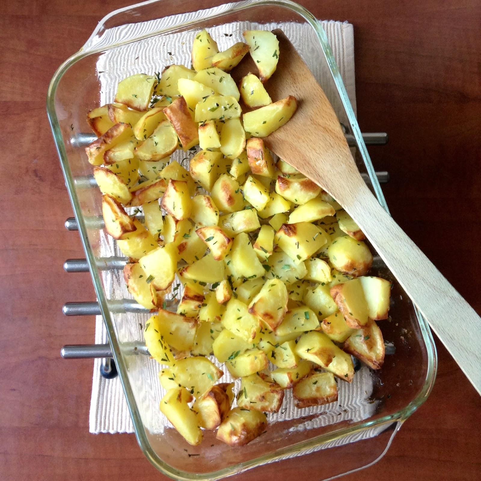 gebakken krieltjes uit de oven