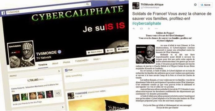 TV5MONDE Hacked facebook Page hacked, hacking TV network, TV5Monde hacked