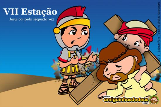 Sétima Estação - Jesus cai pela segunda vez