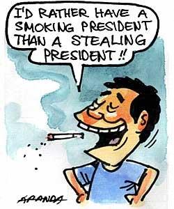 smoking president