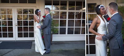 Casey and Courtney's First Look - Patricia Stimac, Seattle Wedding Officiant