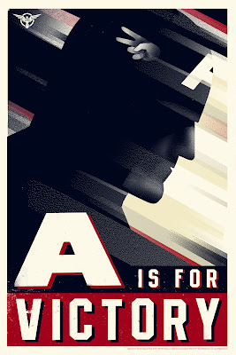 San Diego Comic-Con 2011 Exclusive Captain America: The First Avenger Mondo Screen Print Series by Olly Moss - A is for Victory