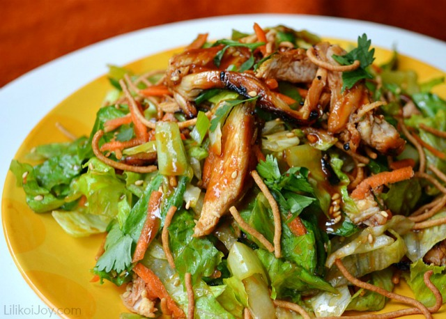 Asian Chicken Salad with Sweet and Sour Dressing