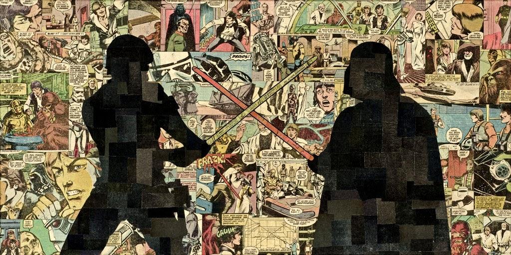 14-Skywalker-vs-Vader-Mike-Alcantara-Comic-Collage-Art-www-designstack-co