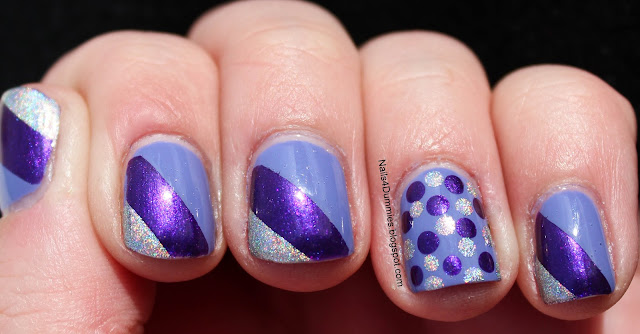 Purple Tape Mani