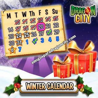 imagen del premium box del calendario de invierno dargon city ios
