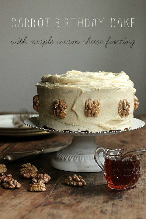 ... Kitchen Notes: Carrot Birthday Cake with Maple Cream Cheese Frosting