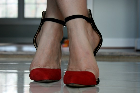 Black and Red Vamp High Heel from Zara