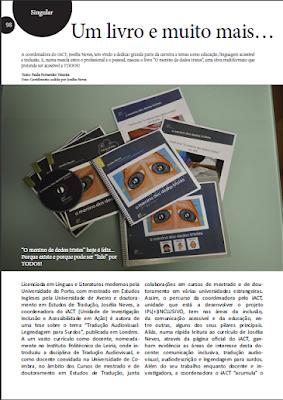 """página 98 da revista Plural& Singular sobre """"o menino dos dedos tristes"""