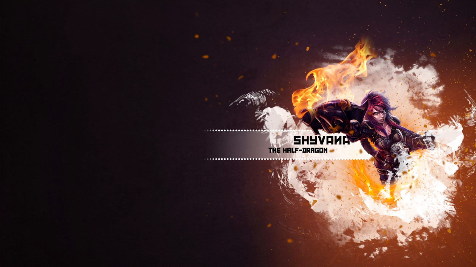 Shyvana League of Legends Wallpaper