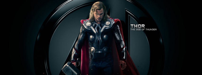 Thor the god of thunder facebook cover