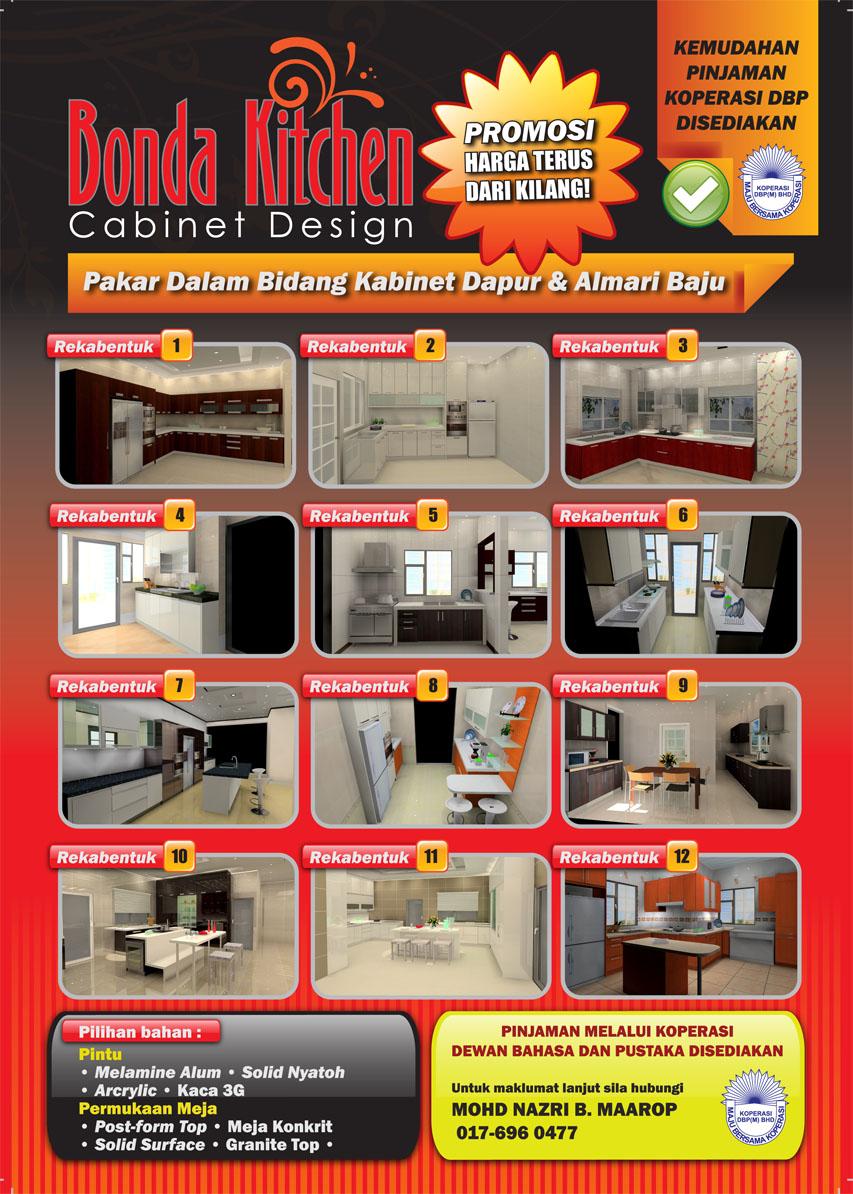 Bonda kitchen cabinet design mai datang ke bonda kitchen for Kitchen cabinet murah 2016