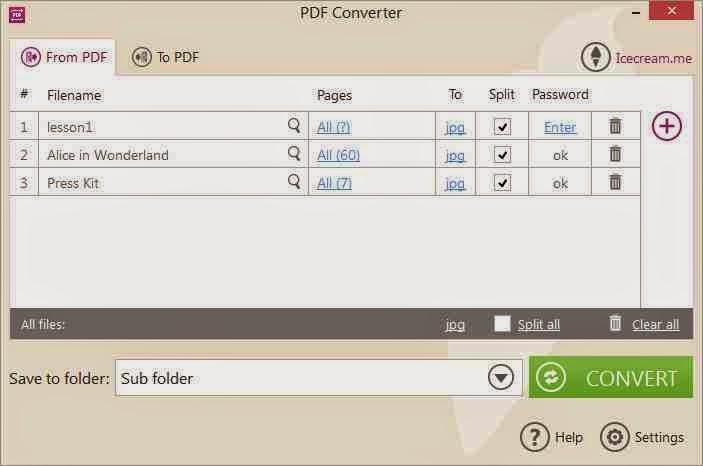 برنامج مجاني لتحويل الملفات والمستندات والصور من وإليPDF بسهولة Icecream PDF Converter
