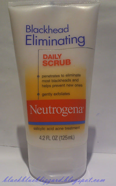 neutrogena, blackheal eliminating daily scrub, cleanser, scrub cleanser, drugstore cleanser, acne treament, blackhead cleanser