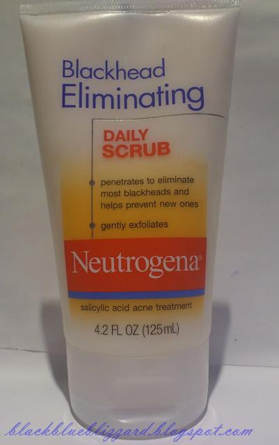 neutrogena, blackheal eliminating daily scrub, cleanser, scrub cleanser, drugstore cleanser, acne treament, blackhead cleanser