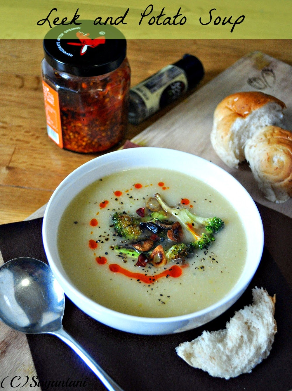 Cumin roasted cauliflower and leek soup - Cook and Post