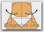 Bước 15: Gấp cong tờ giấy một góc nhỏ về phía mặt sau.