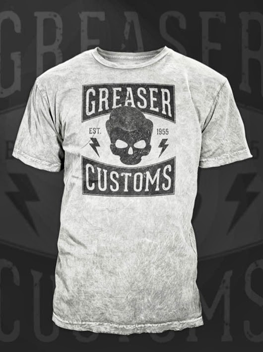 Vintage Style Greaser T-Shirt Design