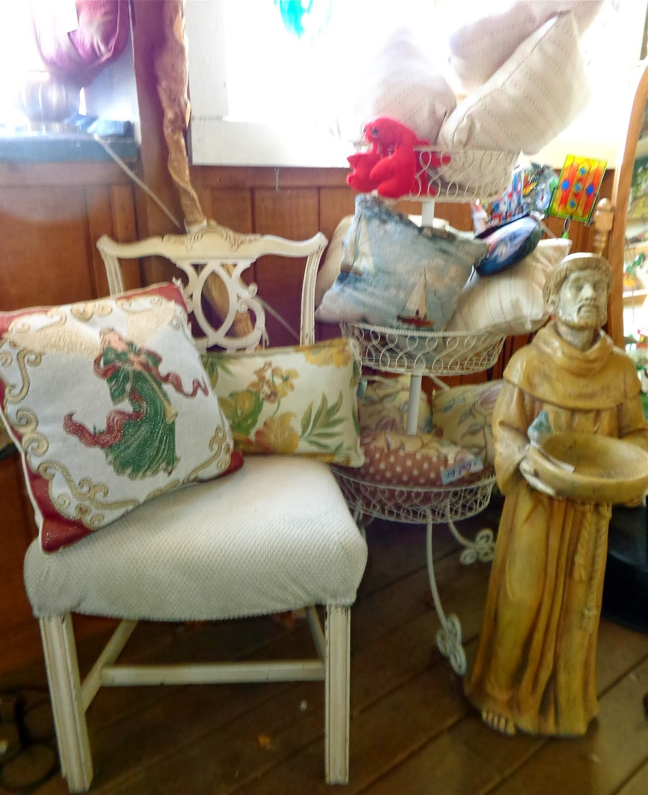 Pillows, Upholstered Chair & More