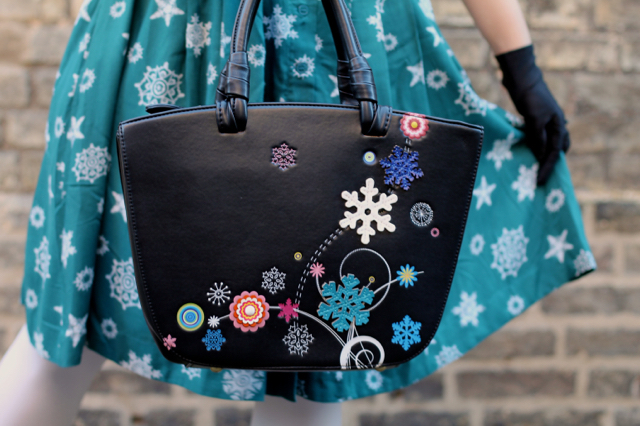 Vendula London Snowflake Grab Bag in black
