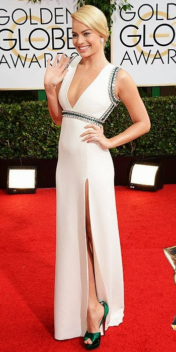 Margot Robbie, Golden Globes, fashion, red carpet, awards show