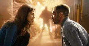 Michelle Monaghan y Jake Gyllenhaal en Código fuente