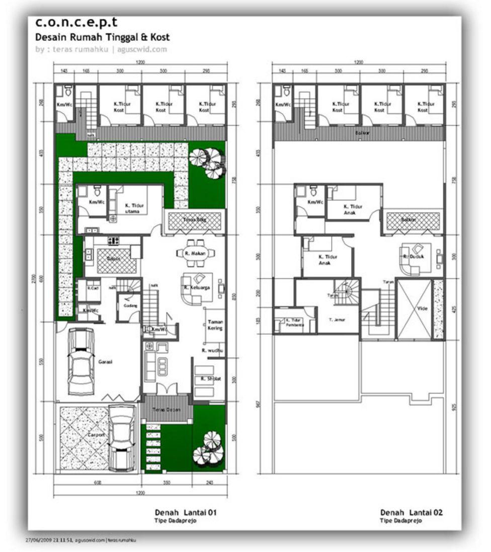model denah rumah mewah 2 lantai kreatif