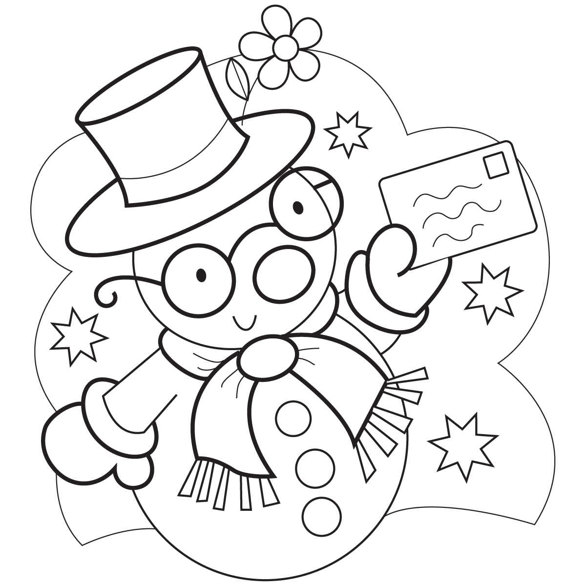 snowman hat coloring page - pictures of snowman hats new calendar template site