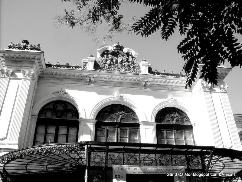 "In B&W. ""Museum of Bucharest is housed in the elegant, Neo-Gothic Şuţu Palace, built from 1833-1835 for the wealthy merchant Costache Şuţu."""