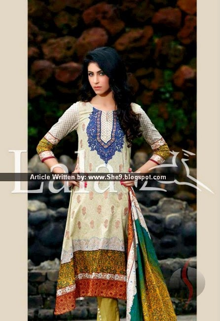 Lala's Sana-Samia Lawn Designs 2015