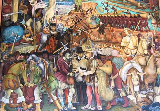 Conquistas y colinisaciones for Diego rivera la conquista mural