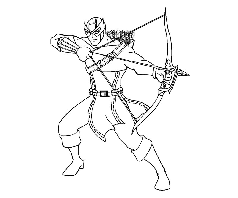 Hawkeye avenjers free coloring pages for Marvel hawkeye coloring pages