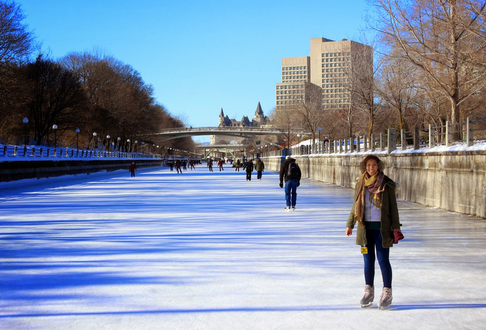 ice skating on the rideau canal and winterlude festivities