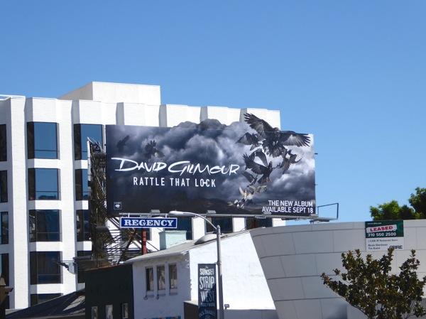 David Gilmour Rattle that lock billboard