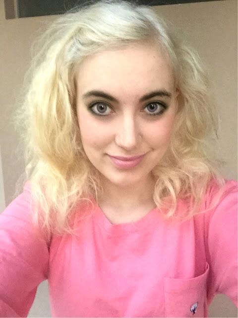 blonde-hair-pink-shirt