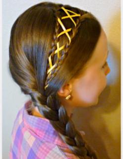 Peinados Con Cintas Para Niña - Tejido con Cinta o Liston para Trenzas YouTube