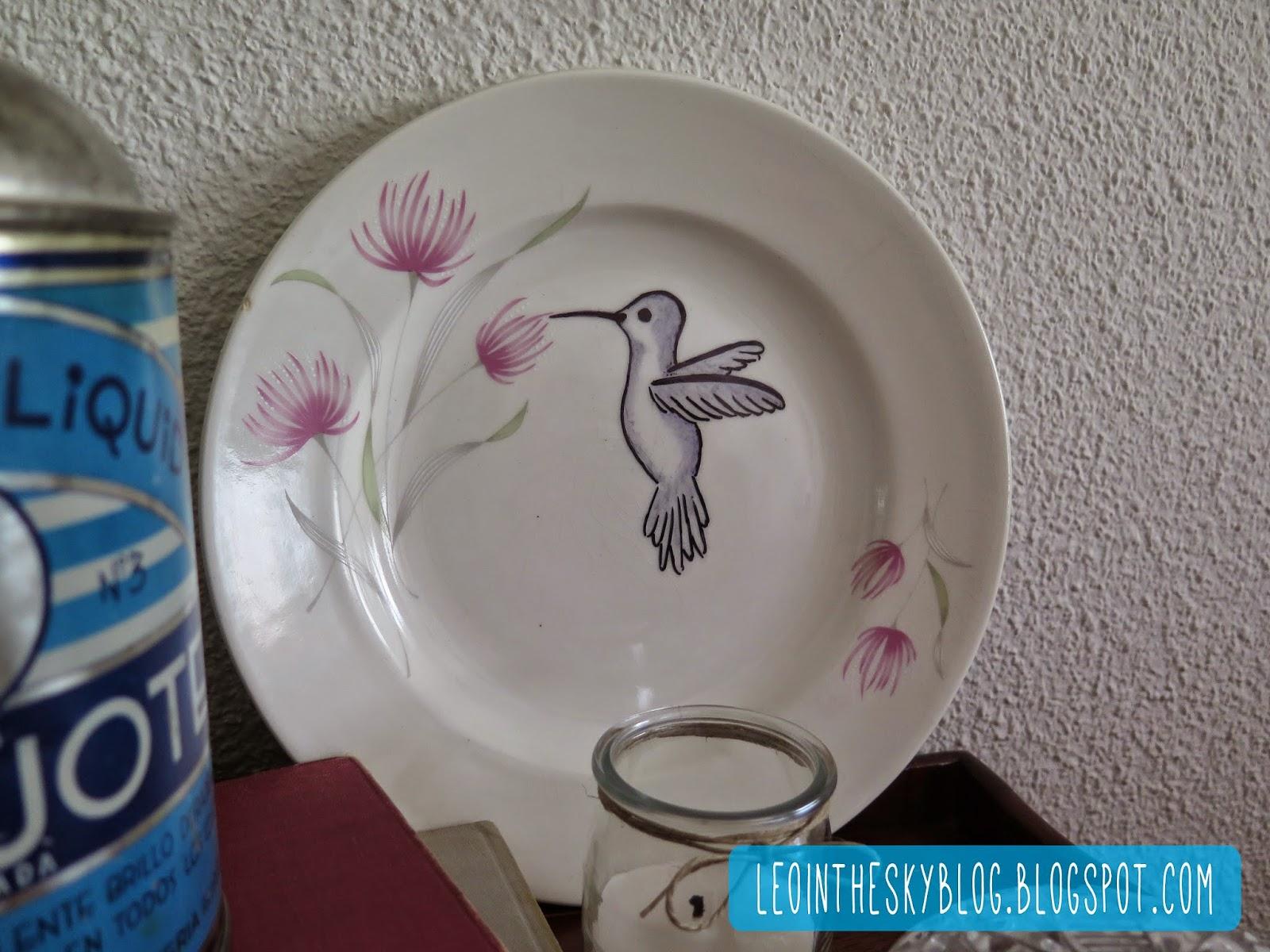 Leo in the sky diy plato de cer mica decorado for Platos de ceramica