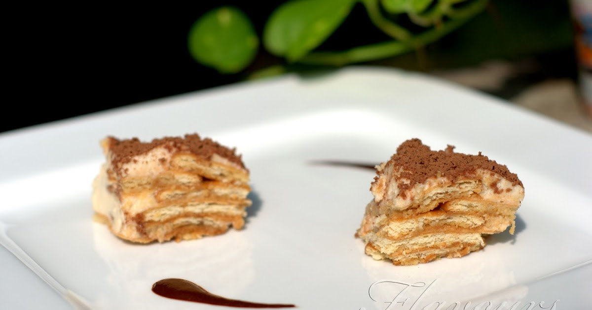 Flavours: Easy Eggless Tiramisu with Marie Biscuits