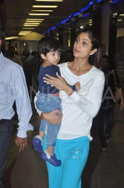 son - Shilpa Shetti with son (Dabbang Muqabla 3)