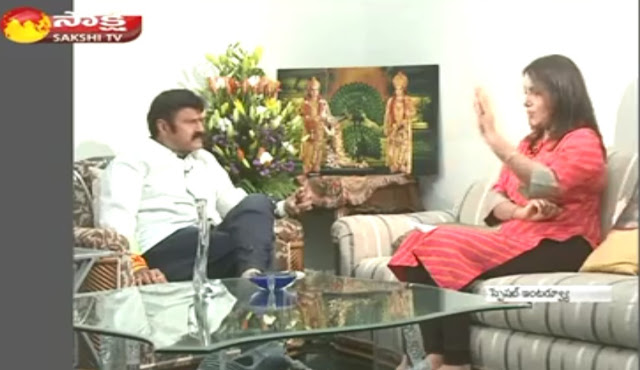 NBK Balayya About Train Scene Palanati Brahmanaidu with Sakshi Tv