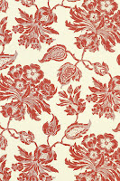 Floral Wallpaper T4102 Red