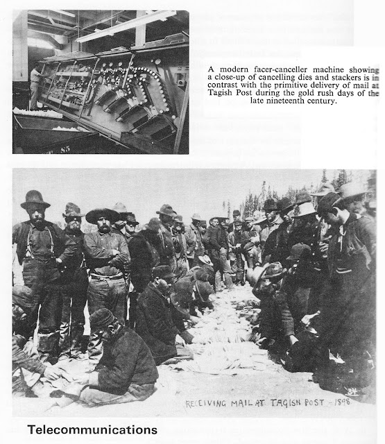 Receiving mail at Tagish Post 1898