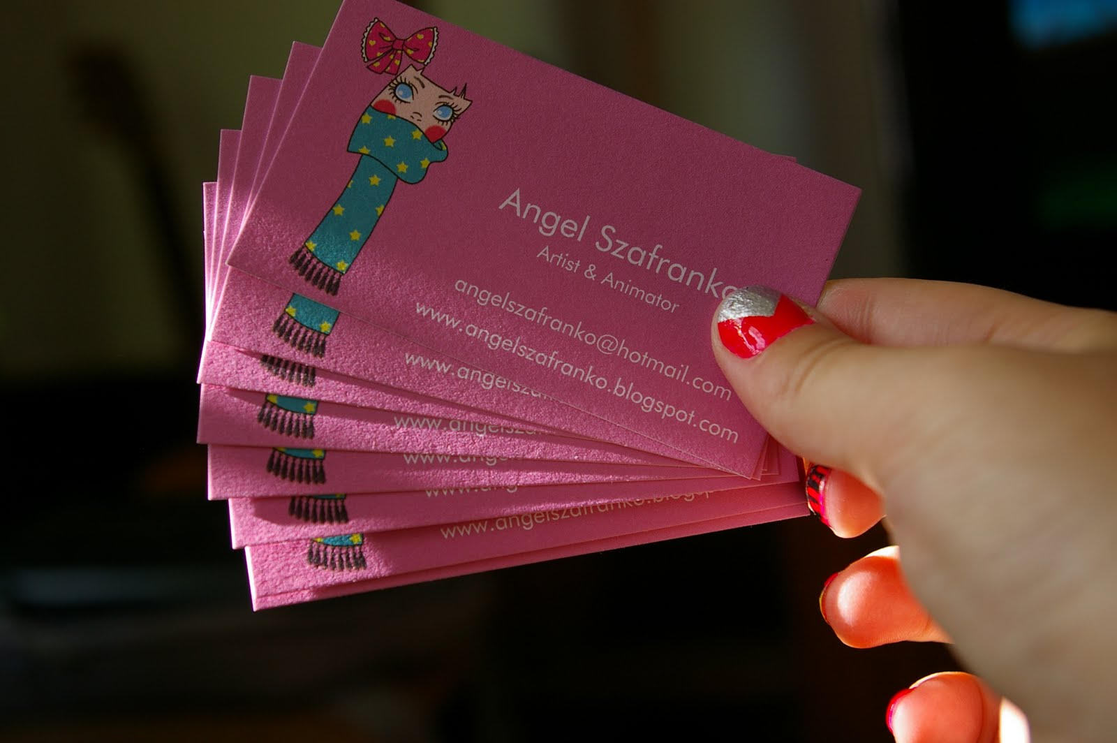Artsy Angel: Business Cards
