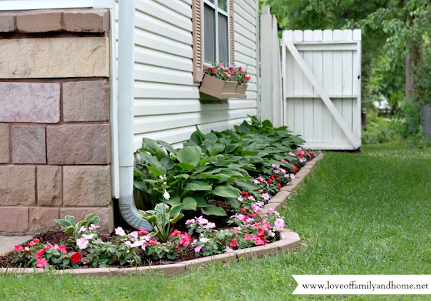 side yard makeover creating curb
