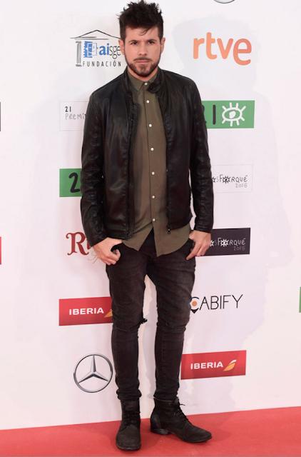 Pablo López en los Premios Forqué, enero 2016